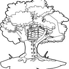 Free Coloring Pages Tree House The Art Jinni