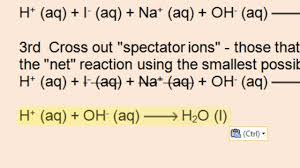 net ionic equations acid base ppt gas forming