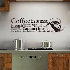 stickers french cuisine coffee cup vinyl wall sticker decals mural wall art kitchen coffee shop home on wall art kitchen coffee with stickers french cuisine coffee cup vinyl wall sticker decals mural