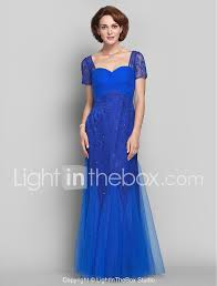 Light In The Box Mother Of The Bride Dresses Sheath Column Queen Anne Floor Length Lace Tulle Mother