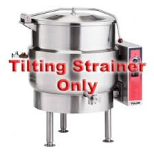 vulcan strainerk12 strainer w pour lip for 12 gal steam jacketed kettles