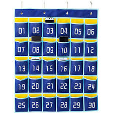 Chart Holder For Classroom Details About Numbered Pocket Chart Classroom Organizer For Cell Phones Calculator Holder A8o9