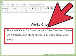 Work Citation Mla Format How To Cite An Interview In Mla Format With Sample Citations
