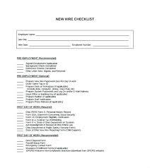 Employee Hire Forms Orientation Checklist Template