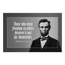 Abraham Lincoln Quotes On Slavery Amazing Abraham Lincoln Quote On Slavery And Freedom Poster Abraham