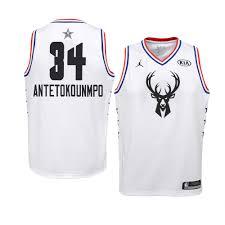 Giannis Jersey Milwaukee White Bucks Antetokounmpo 2019 Youth All-star