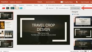 Office 365 Powerpoint Designer How To Use Powerpoint Designer Or The Design Ideas Tool