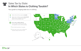 Sales Tax By State 2019 Chart Which States Require Sales Tax On Clothing