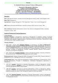 Sample Resume For Business Administration Student Amazing Sample