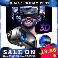 5 ~ 7 Inch VRG Pro 3D VR Kính Thực Tế Ảo Full Màn Hình Thị Giác Rộng VR Hộp  Kính 5 Đến 7 Inch Điện Thoại Thông Minh Kính Mắt