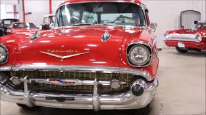 1957 Chevy BelAir wagon red - YouTube