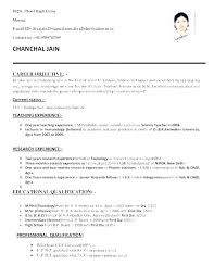 Sample Resume Doc Sample Format For Resume Example Of Resume For ...