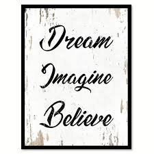 believe wall art with black frame
