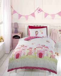 Princess Bedroom Furniture Uk Girls Pink Fairy Castle Fairy Tale Princess Toddler Duvet Cover