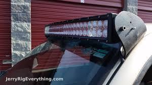 Dodge Dakota Light Bar Mounts Making Custom Brackets For A 50 Inch Led Light Bar Truck Mount