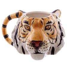 1piece wildlife adventure tiger face mug 3d tiger head ceramic cup coffee mug personalised tea cup auto accessorize