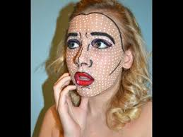 pop art roy lichtenstein makeup tutorial costume ideas 5 makeup tutorials for female tv characters shape magazine
