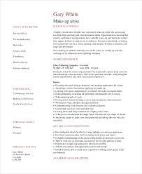 professional makeup artist resume exle