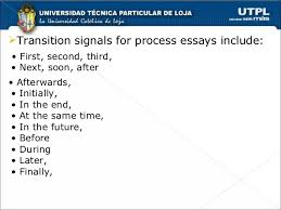 chronological order process essays 7 transition signals for process essays