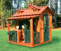 big childrens playhouses kid playhouse plans outdoor wooden with slide
