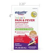Equate Infants Pain Fever Acetaminophen 160 Mg Per 5 Ml