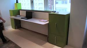 Convertible Desk Bed Cabrio In Desk Resource Furniture Wall Bed Systems Youtube