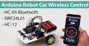 arduino robot car wireless control using hc 05 bluetooth nrf24l01 arduino robot car wireless control using hc 05 bluetooth nrf24l01 and hc 12 transceiver modules howtomechatronics