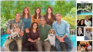 family portrait painting i created this family s painting referring to 279 photos