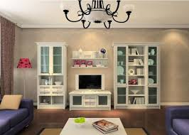 White Living Room Cabinets With Glass Accent 5485 Home