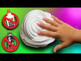 fluffy slime without glue or shaving
