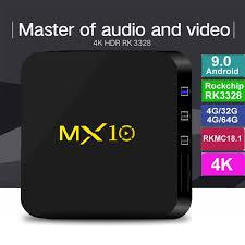 <b>Android 9.0 TV</b> BOX MX10 4GB Ram 32GB 64GB Rockchip RK3328 ...