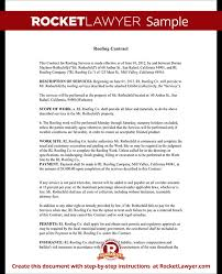 Roofing Contract Template Sample Roofing Contract Template