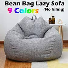 Bazgo Large Bean Bag Chairs Sofa Cover,<b>Solid Color Simple</b> ...