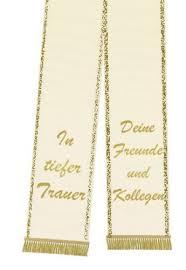 Trauerband Bedruckt 125mm X 75cm Creme Preiswert Online Kaufen