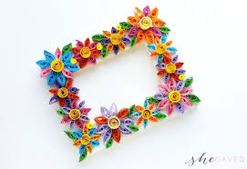 Paper Quilling Flower Frames Easy Paper Quilling Craft Quilled Flower Frame Shesaved
