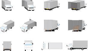 フリーイラスト トラックのセットでアハ体験 Gahag 著作権フリー