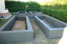 concrete raised garden beds rendered concrete raised beds concrete raised garden beds we build custom landscaping planters using