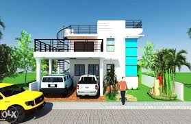 modern zen 2 y house design with roof deck