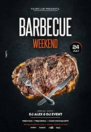 Barbecue Flyers Barbecue Bbq Weekend Free Psd Flyer Template Psdflyer Co