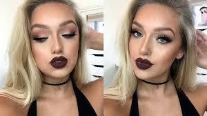 insram bad makeup tutorial matte eyes dark lips outfit you