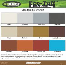 Cool Deck Paint Color Chart Color Charts