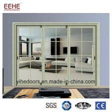 dual pane glass barn door glass pocket doors aluminum alloy door