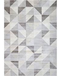 Hot Sale Silver Gray and White Modern Geometric Triangle Pattern Rug