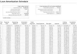 Simple Interest Loan Amortization Schedule A Loan Amortization Schedule Simple Interest Excel Top