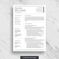 Resume Templaye Professional Resume Template