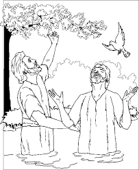 Baptism Coloring Page Jesus Coloring Home