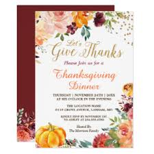 Free Online Thanksgiving Invitations Lets Give Thanks Fall Pumpkin Thanksgiving Dinner Invitation