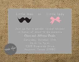 Awful Gender Reveal Invitations Free Printable
