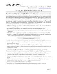 Financial Analyst Resume Format List Of Financial Analyst Resume Pdf