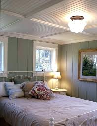 beadboard bedroom furniture. White Beadboard Bedroom Furniture Cottage Basement With Floor To Ceiling Painted Wood Paneling